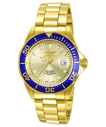 Invicta Men's 14124 Pro Diver Gold Dial 18k Gold Ion-Plated Stainless Steel - $65.99