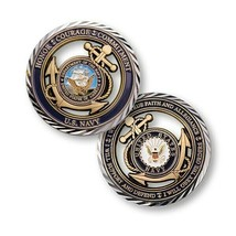 "NAVY CORE VALUES 1.75""  CHALLENGE COIN - $18.04"