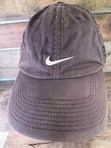 NIKE Swoosh Distressed Black White Adjustable Adult Cap Hat - $13.85