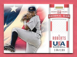 2013 D.J. Roberts Panini USA Baseball Rookie Jersey 136/199 - $2.84