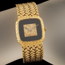 Piaget Ladies 18k Gold Wristwatch, Onyx Dial, 18 Jewel, Certificate, Ref... - $8,019.00
