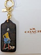 Coach F58504 Limited Bonnie Cashin Signature Key Chain Fob Ring nwt gold... - $34.64