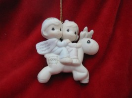 Precious Moments 1994 Our First Christmas Together with Reindeer Christmas Ornam - $7.66