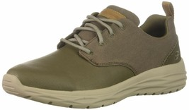 Skechers Men's HARSEN-ACTON Oxford Khaki Causal Shoes 10 M Us 65618 - $44.54