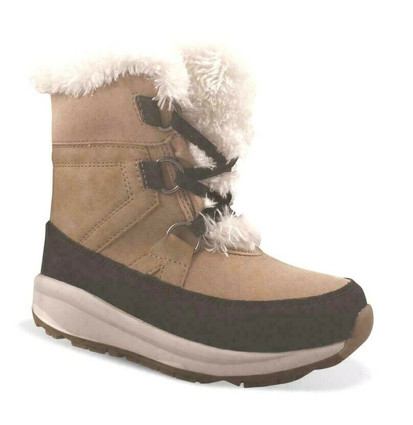 Cat & Jac Tan Girls' Kasey Faux Fur Thermolite Winter Boots
