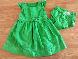 Girl's Size 18-24 M Months Two Piece Carter's Green Eyelet Embroidered D... - $20.00