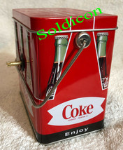 Coke Coca Cola Collection Aluminum Tin Tank Cans Music Box + Quartz desk Clock image 6