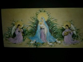 Pretty Angels Madonna and Child Vintage Christmas Card - $4.00