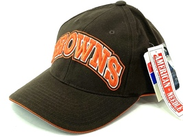 "Cleveland Browns Vintage NFL 20% Wool Block ""BROWNS"" Cap (New) By Americ... - $27.99"