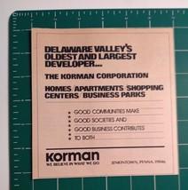 1976 Korman Developer Corporation Advertisement Jenkintown, PA - $16.00