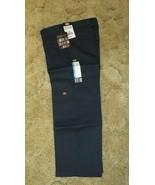 Dickies Boys Navy School Uniform 8H Flexwaist Relaxed Fit Double Knee 29x23 - $14.80