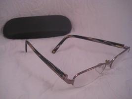 ANNE KLEIN NY Eyeglass Frames Plastic Metal Rectangular Brown Silver AK9120 - $9.00