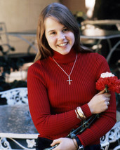 Linda Blair Wearing Cross and Red Sweater 1970's 16x20 Canvas Giclee - $69.99