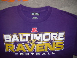 NFL Team Apparel Baltimore Ravens Football T-Shirt Size Large - $19.00