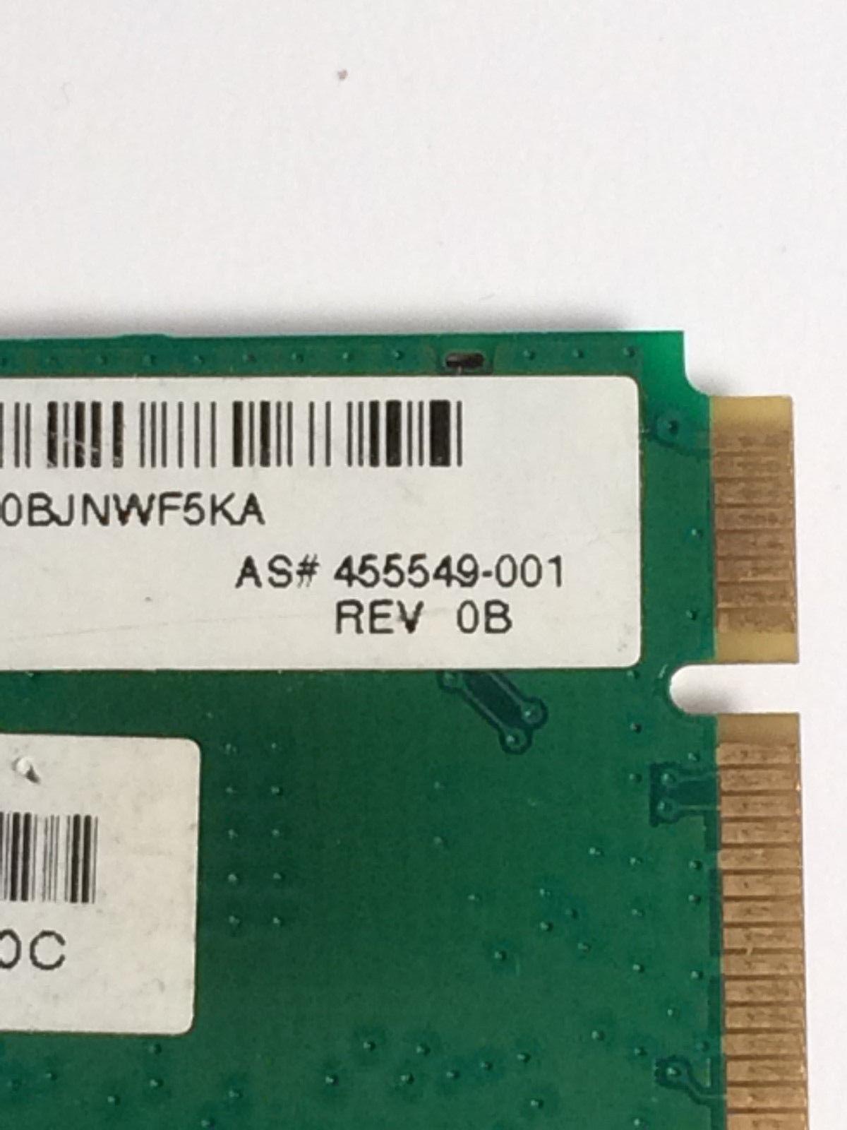 HP 459339-001 Pavilion dv6000 dv9000 g50 802.11b/g Mini PCI Wireless WI-FI Card image 6