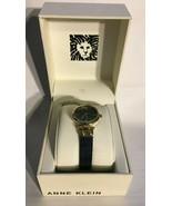 Anne Klein Womens Watch Genuine Diamond Collection Gold Black AK/3003GPB... - $59.35