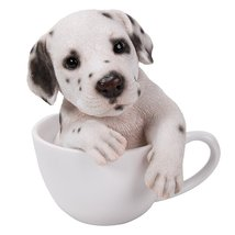 Adorable Teacup Pet Pals Puppy Collectible Figurine 5.75 Inches (Dalmatian) - £14.40 GBP