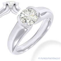 Round Cut Forever Brilliant Moissanite 14k White Gold Solitaire Engageme... - £392.76 GBP