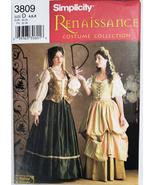 Simplicity 3809 D Renaissance Costume Skirt Vest 4 6 8 Sewing Pattern Un... - $14.95