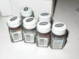 Model PAINT- Six Bottles 1388 Testors Acrylic Burnt Umber 1/4 Oz BOTTLE-H45 - $14.69