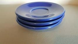 3 Deep Blue Homer Laughlin Saucers - $3.67