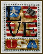 Love USA Love Bits cross stitch chart Hinzeit - $6.00