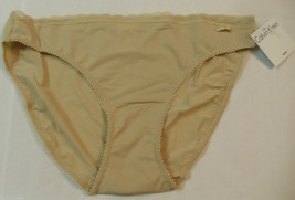 Calvin Klein  Beige Bikini Panties D3496DS-70N S Small $20 LOT#482 - $16.00
