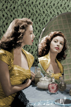 Ava Gardner Stunning Vintage Color Portrait looking in mirror 18x24 Poster - $23.99