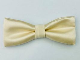 Yellow Bow Tie, Satin Bow Tie, Men Bow Tie, Handmade, Classic Bow Tie, S... - $5.00