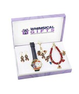 American Patriotic July 4th Gold 4-piece Watch-Bracelet-Necklace-Earring... - $103.99