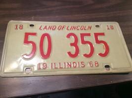Vintage Illinois License Plate -  - Single Plate  1968 - $16.82