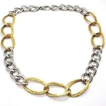 Halskette Silber 925, Kette Bordstein Oval, Weiß und Gelb Abwechselnde, Kandare image 1