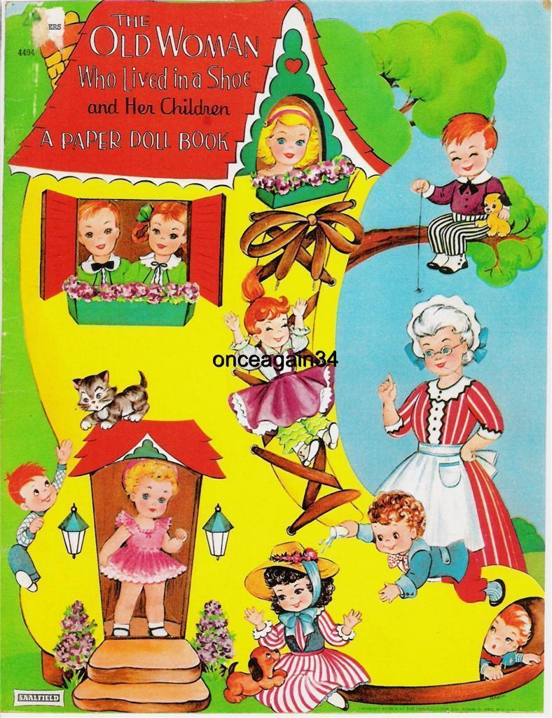 VINTAGE UNCUT 1941 BIG BIG CUT OUT BOOK PAPER DOLLS-EXTREMELY RARE REPRODUCTION!