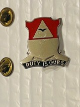 US Military 890th Engineer Battalion Insignia Pin - Duty Is Ours - $10.00