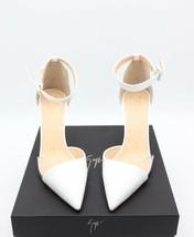 NIB Giuseppe Zanotti Lucrezia White Patent Leather Ankle Strap Pumps Hee... - €299,95 EUR