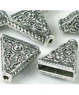 6 Pewter Triangle Connector 15x14mm~ Lead Free - $9.89