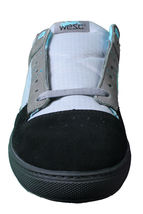 WeSC Mens Black Dark Shadow Gray Turquoise Emerson Stash Graffiti NY Shoes image 3