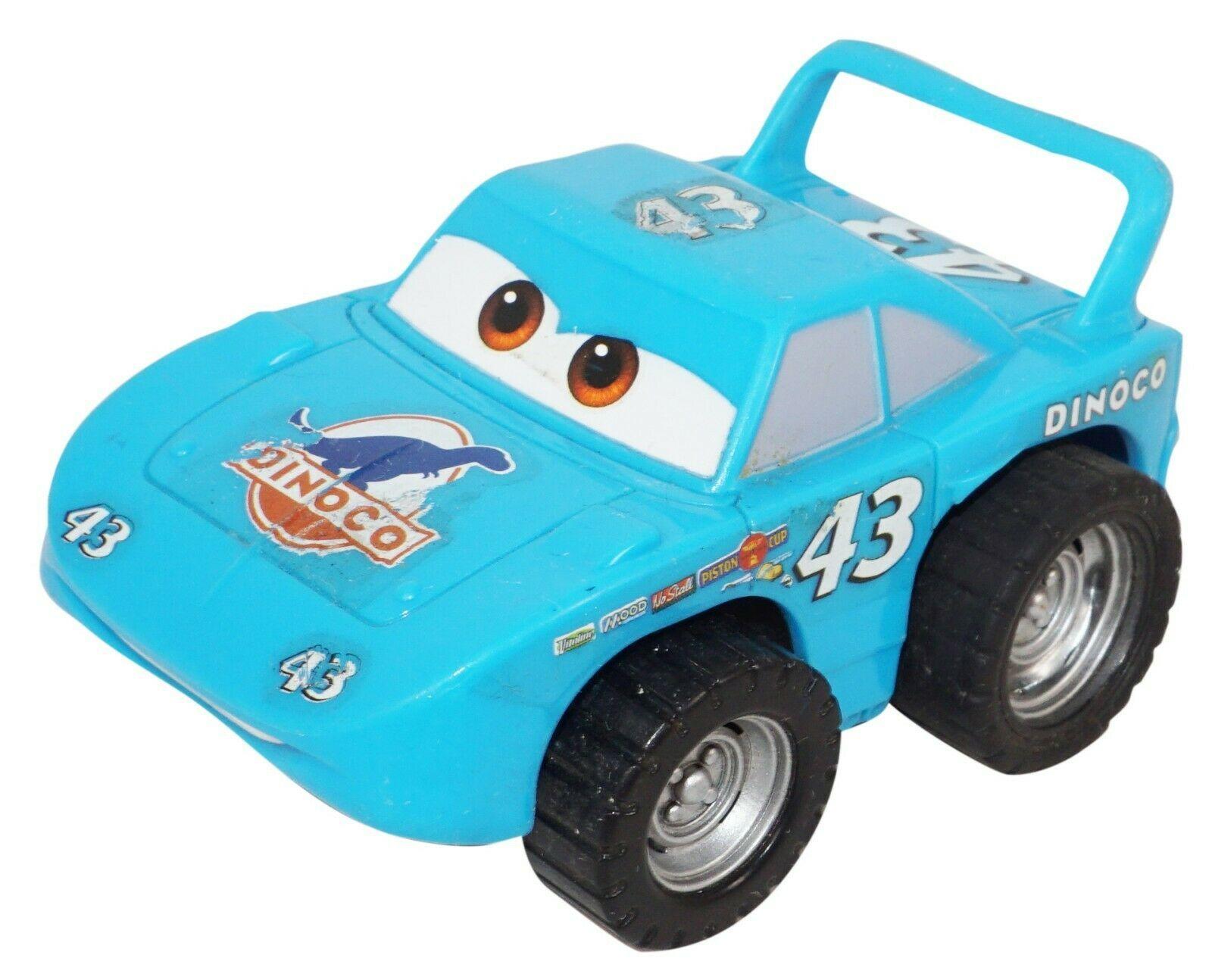 "STRIP 'THE KING' WEATHERS DISNEY PIXAR CARS TOY PULL BACK 3"" DINOCO FIGURE USED - $9.88"