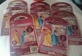 8 Disney Princess Dress Up Paper dolls Activity Pack #45822 - $14.03