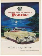 1951 Pontiac Chieftain Print Ad Moonlight & Ocean Art - $9.99