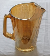 Vintage Jeannette Glass Iridescent Carnival Hex Optic Honeycomb Pitcher ... - $9.99
