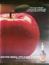 Vintage 1986 Dekuyper Apple Barrel Schnapps Full Page Original Ad - 721 - $6.64