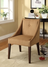 Dilan Brown Fabric Accent Chair - $495.00