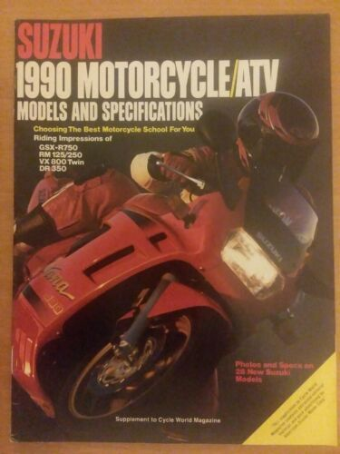 Primary image for Suzuki 1990 Motorcycle ATV Models Specifications Supplement Cycle World Magazine
