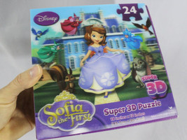 Disney SOFIA The First 24 Piece Super 3D Puzzle 18x12 ~UPC 047754663525 A-7 - $14.95