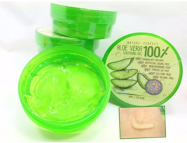 3x50ml. Nature perfect Aloe Vera 100% Soothing Gel Reduces scars, dark spots - $13.50