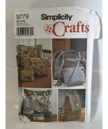 Simplicity 9779 sewing pattern Designer Style PURSE Tote BAGS BACKPACK - $7.91