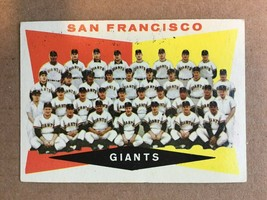 1960 Topps #151 San Francisco Giants Team Baseball Card EX Condition MAY... - $3.99