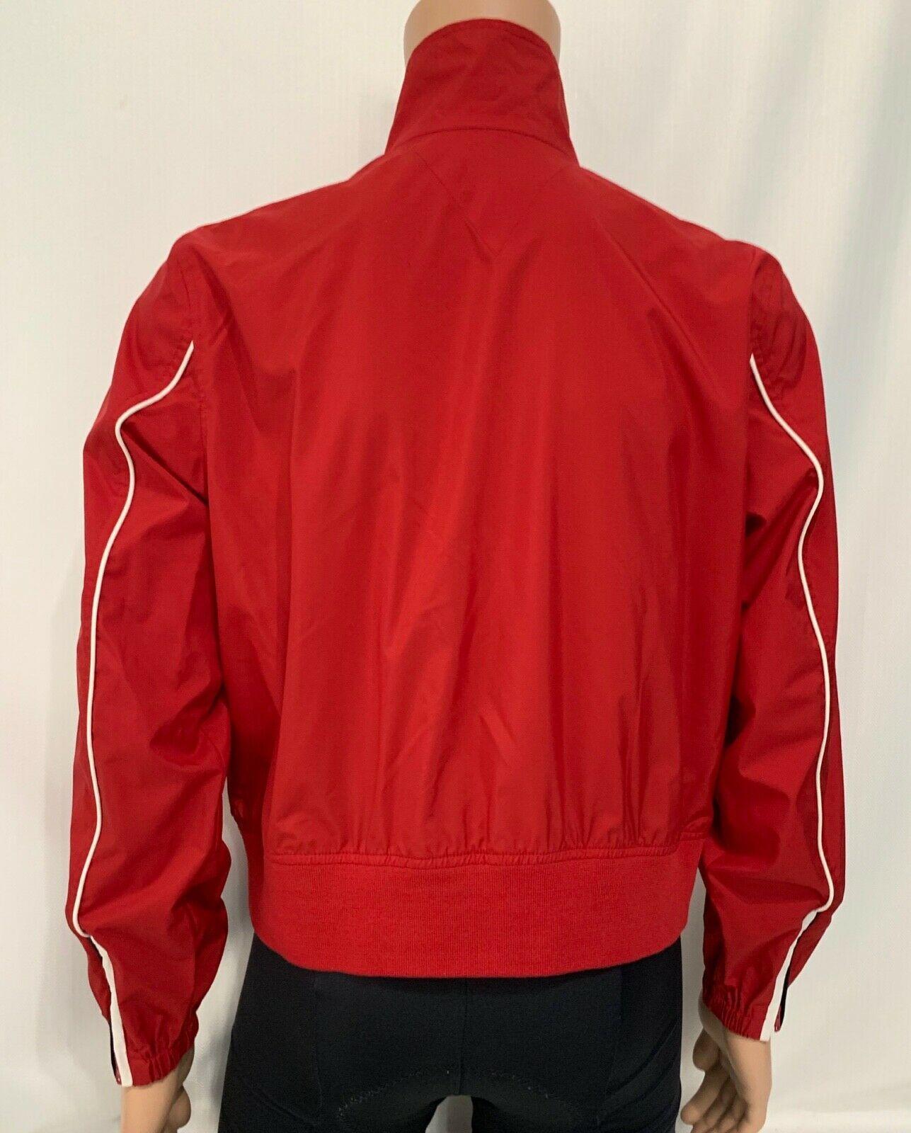 Women TOMMY HILFIGER Jeans RAIN Jacket Coat Windbreaker Pockets RED No Lining XL image 2