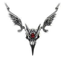 Alchemy Gothic P798  Masque Of The Black Rose Necklace - $69.27
